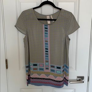Anthropologie Aztec Blouse
